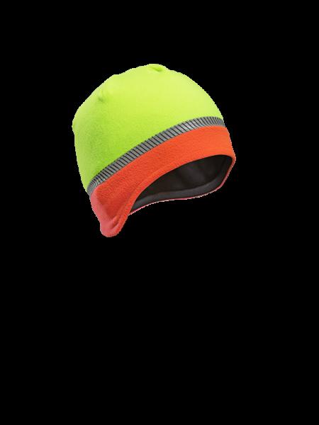Reflex-Mütze Warnfarbe Leuchtorange-Neongelb