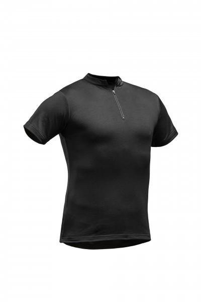 PFANNER Tencel-Poly Zip-Neck Shirt schwarz