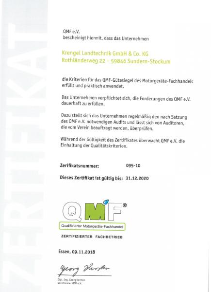 QMF-Zertifikat