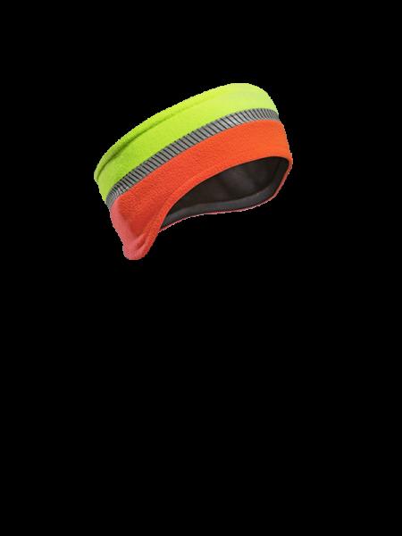 Reflex-Stirnband Warnfarbe Leuchtorange-Neongelb