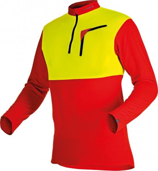 Zipp-Neck Shirt Neon langarm