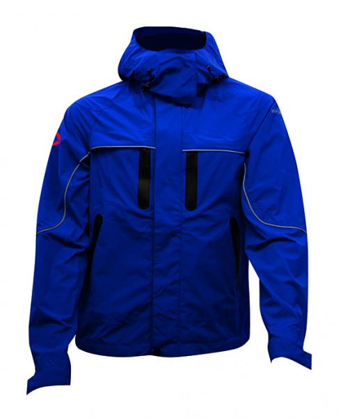 Zipp2Zipp Stretch-Regenjacke mit abnehmbarer Kapuze